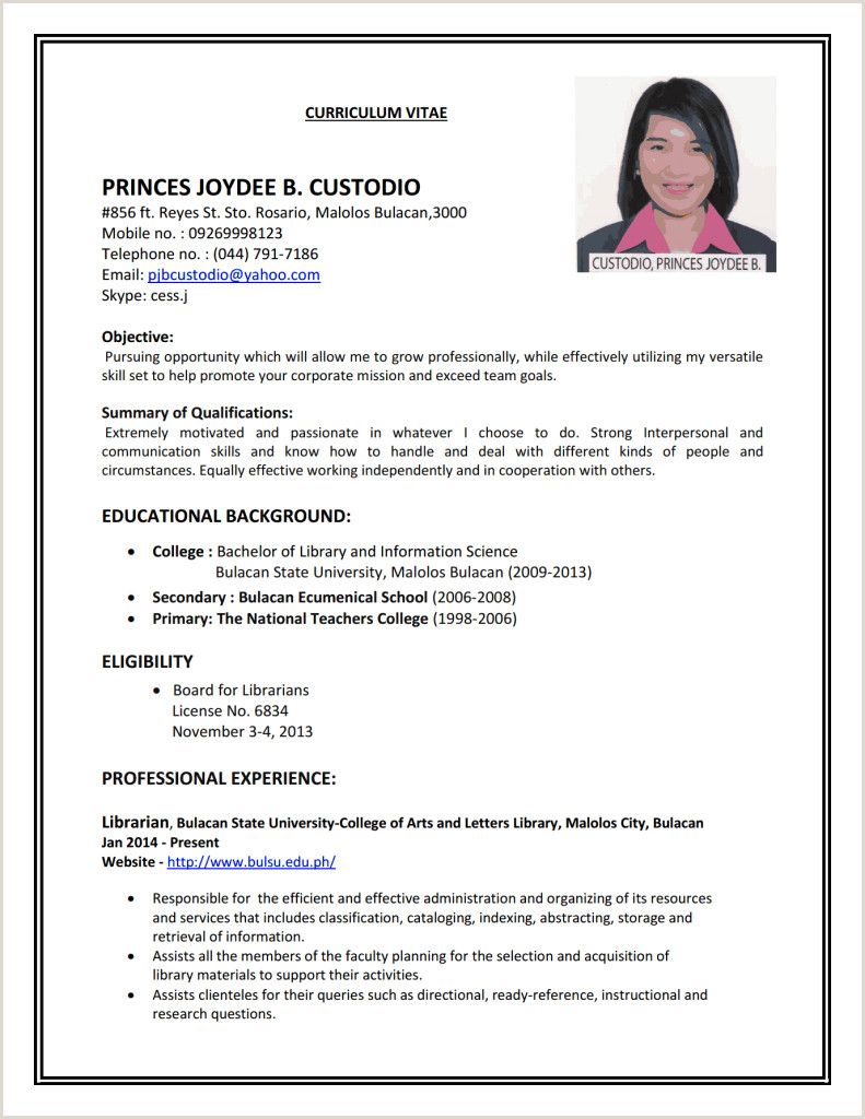 Resume Sample Format Pdf] 80 Pdf Resume Template