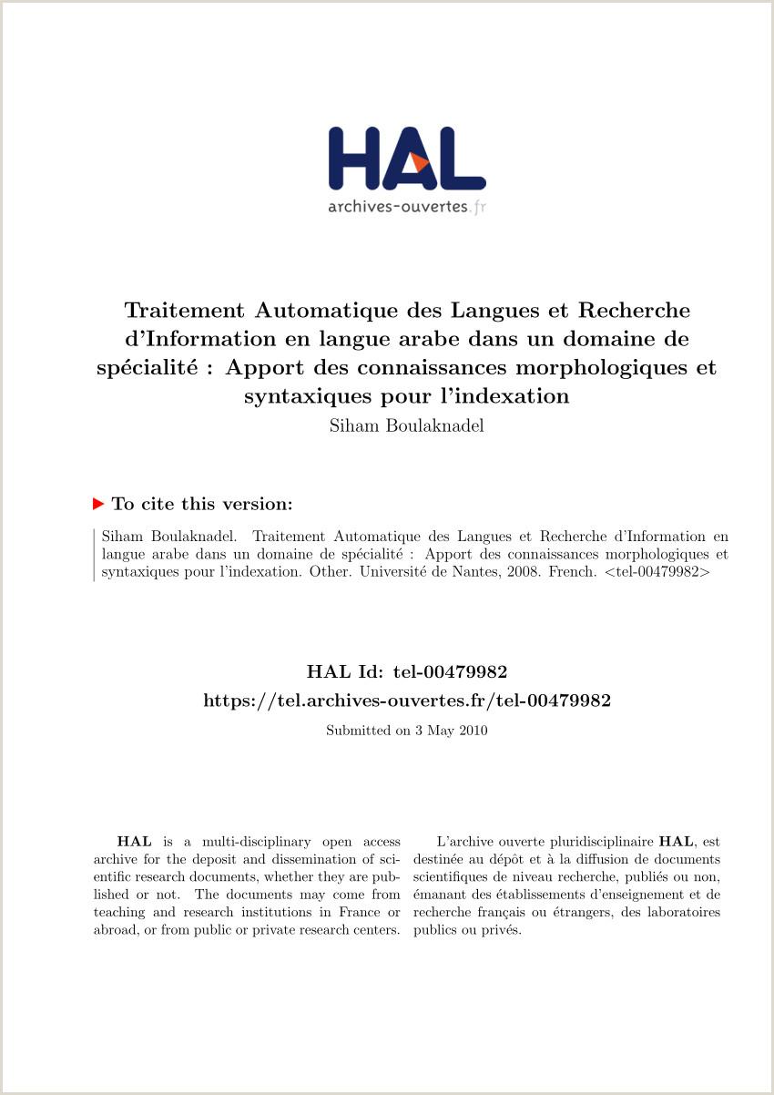 PDF Traitement Automatique des Langues et Recherche d