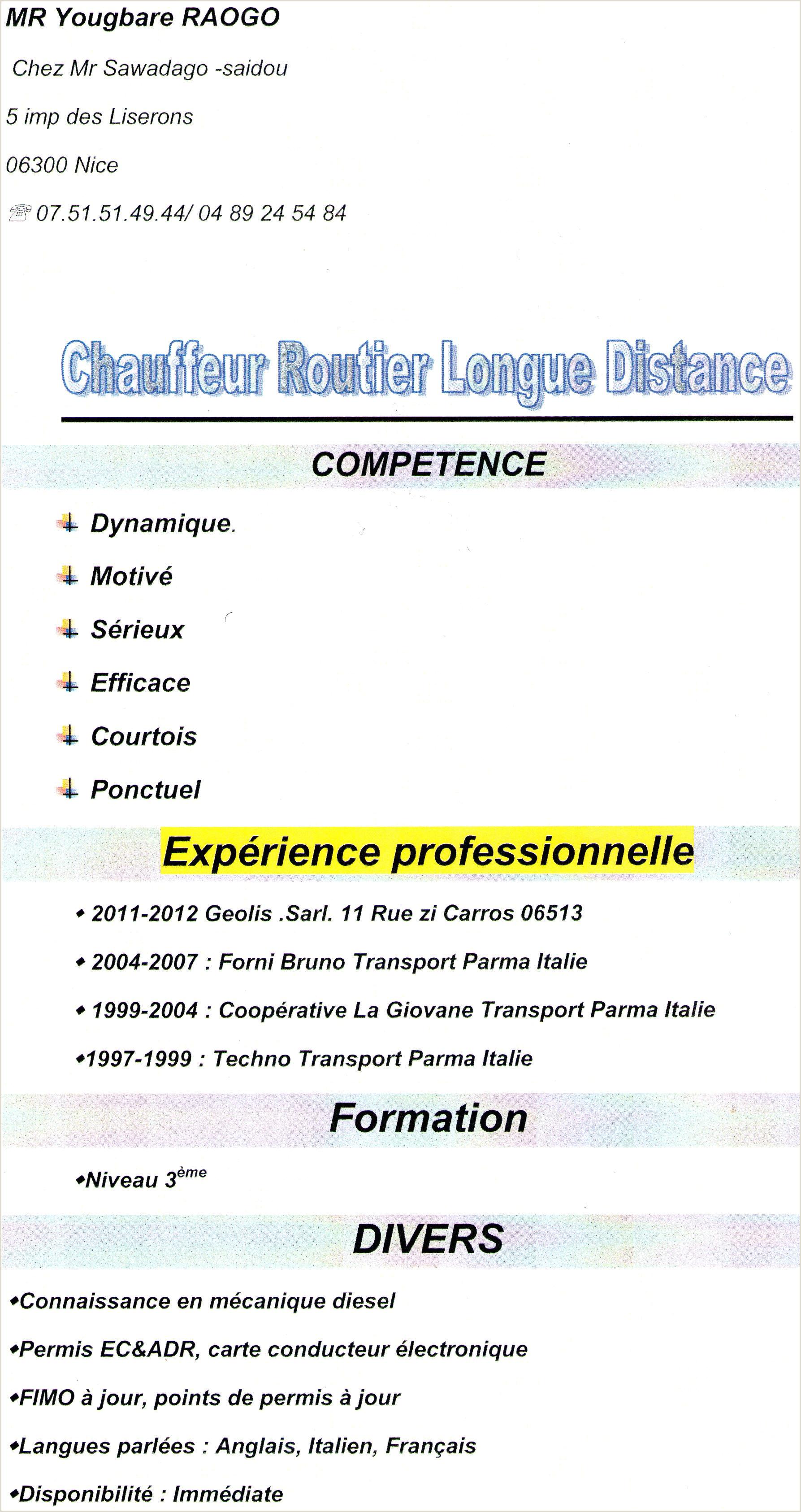 Exemple De Cv Pdf Gratuit Maroc Cv Gratuit Brancar R