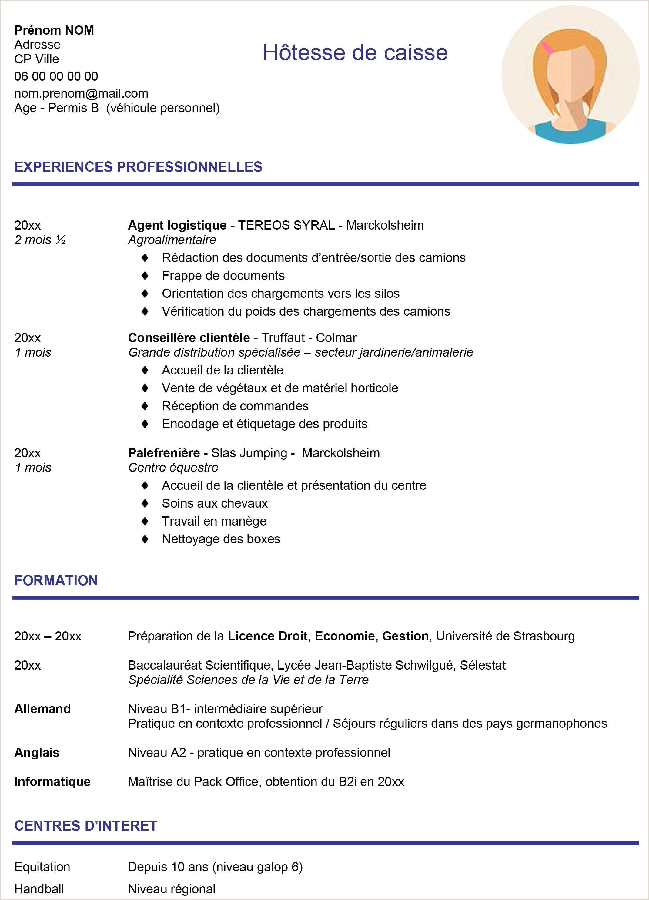 Exemple De Cv Pour Adolescent Cv Pour Job Etudiant Génial Modele Cv Etudiant Informatique