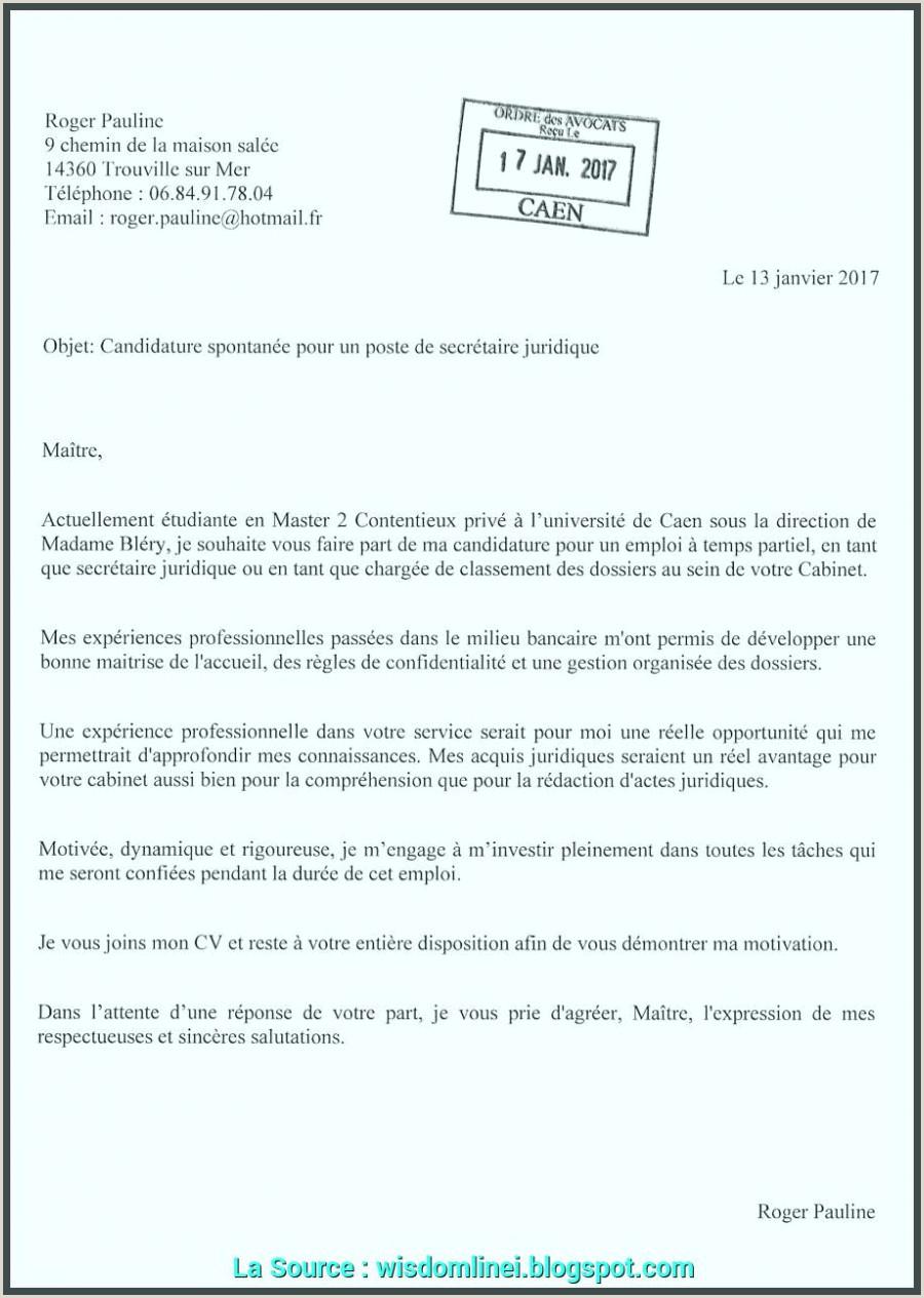 Exemple De Cv Pour Campus France Pdf Nouveau Lettre De Motivation Pour Fre D Emploi Spontanée