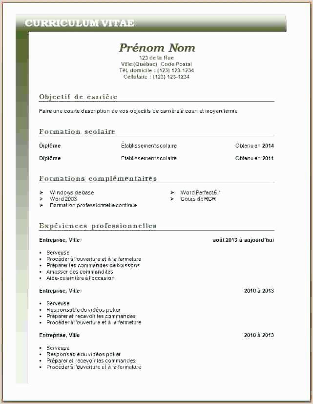 Exemple De Cv Pour Chauffeur Pdf Cv Modele Debutant 15 Lettre De Motivation Chauffeur Livreur
