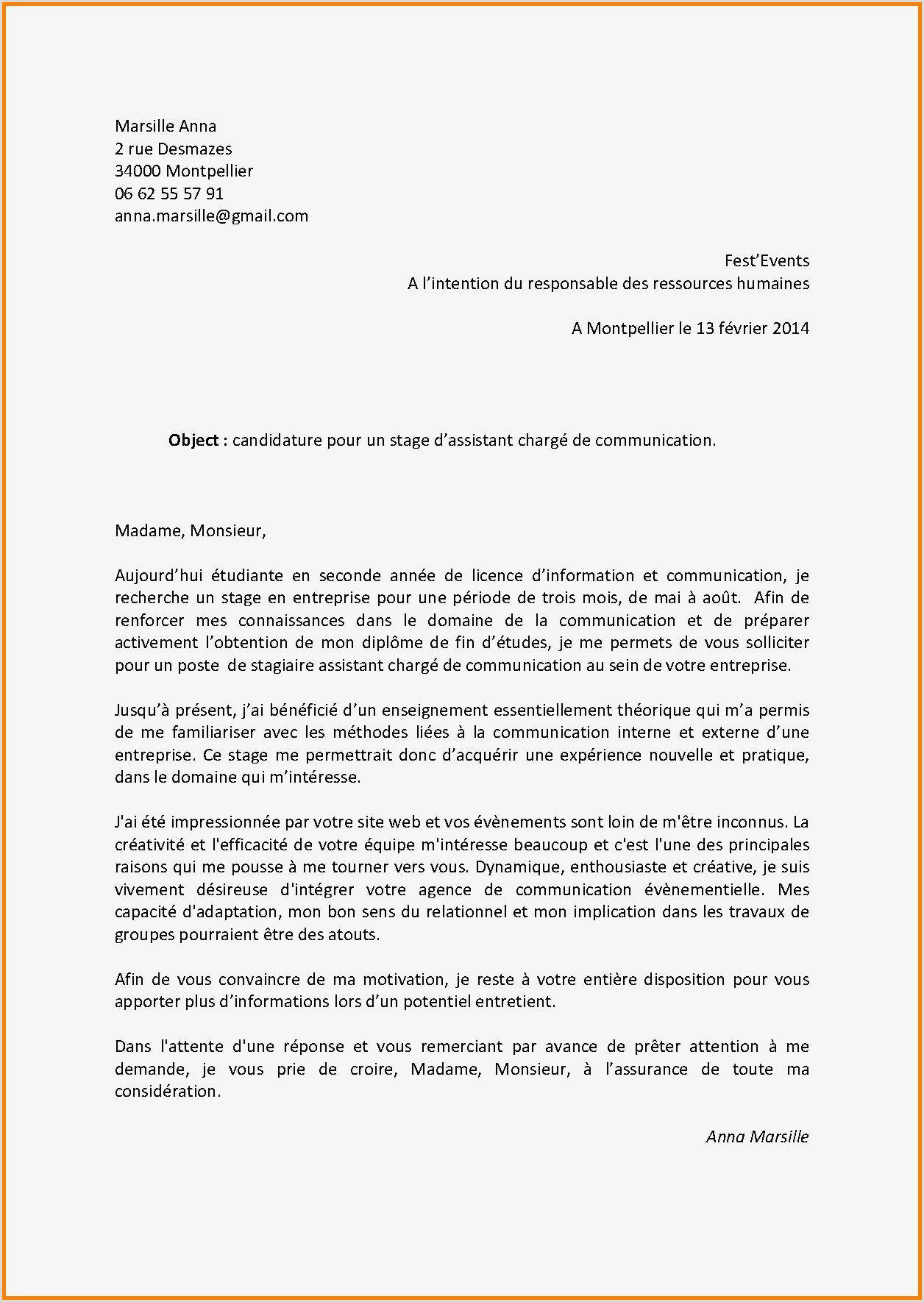 Exemple De Cv Pour Demande Demploi Pdf Nouvelle Exemple De Lettre De Motivation Manuscrite Pdf