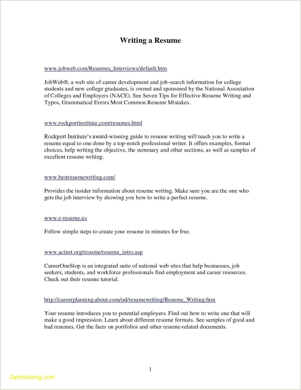 Exemple De Cv Pour La Nouvelle Zelande Cv  Remplir Nouveau Exemple De Cv En Anglais Pdf Beau S Cv