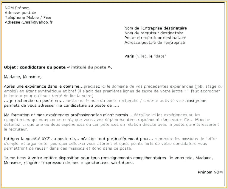 Lettre De Motivation Pour Un Emploi Pdf Hotel Blois Gare