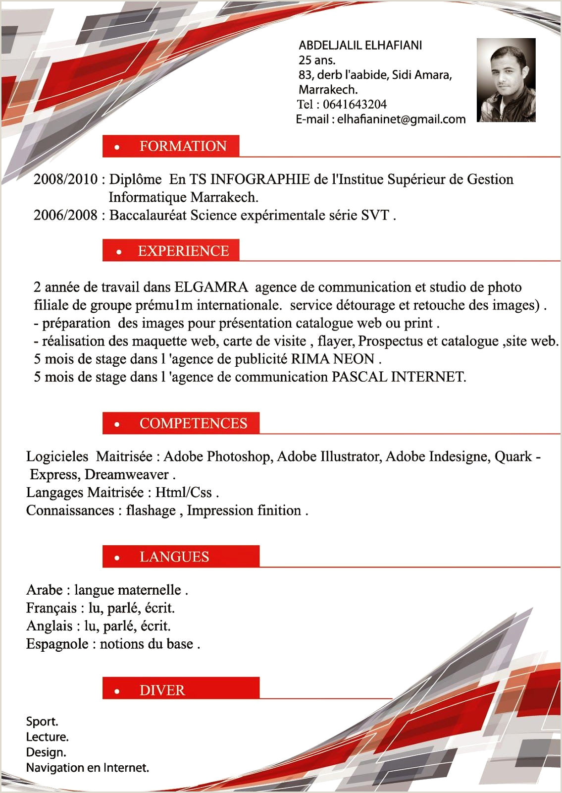 Exemple De Cv Pour Un Stage Simple Cv Coiffeuse Petences Ekla Kerlann