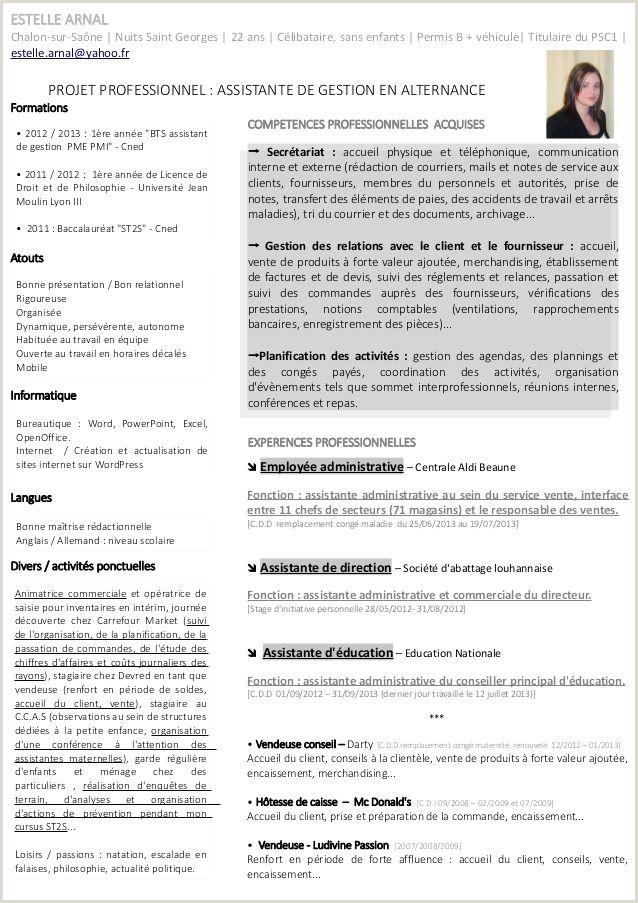 Exemple De Cv Gestionnaire Administratif Belle Modele Cv Par