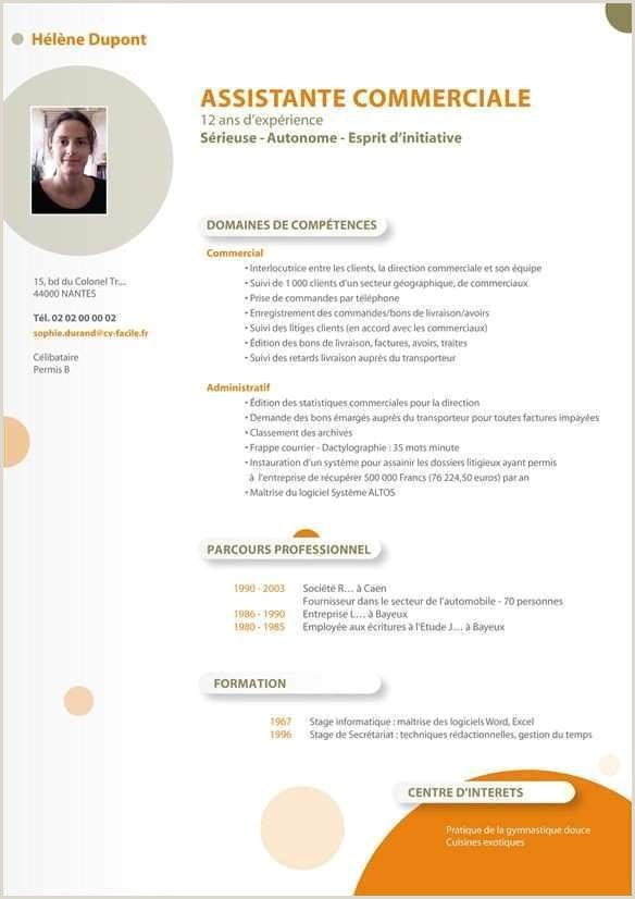 Modele Cv assistante merciale Unique Exemple De Cv