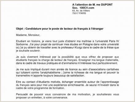 Exemple De Cv Prof De Français Idees Photo