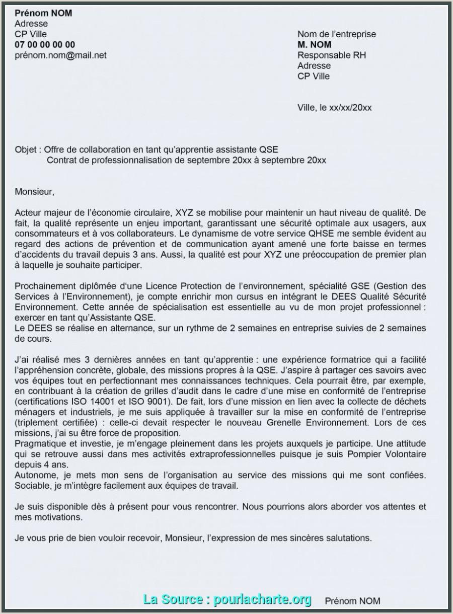Détail Exemple De Lettre De Motivation Pour Licence