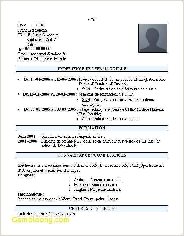 Exemple De Cv Quebec Etudiant Exemple De Cv Quebecois Etudiant Joli Modele Cv Etudiant