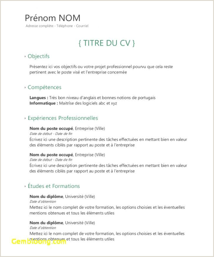 Exemple De Cv Quebecois Comptable Exemple De Cv Quebecois Ptable Douce Mod Le Cv Quebecois