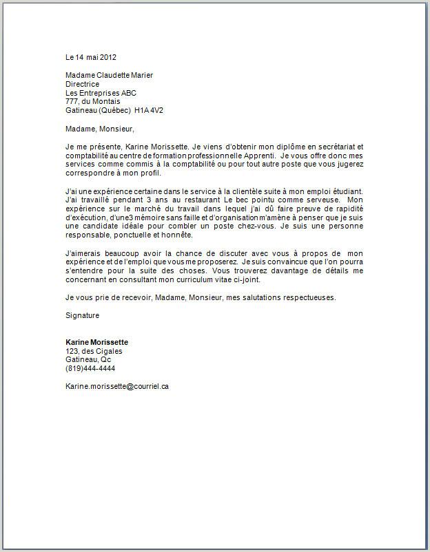 Exemple De Cv Quebecois Comptable Exemple Lettres 7 Présentation Mediamotors