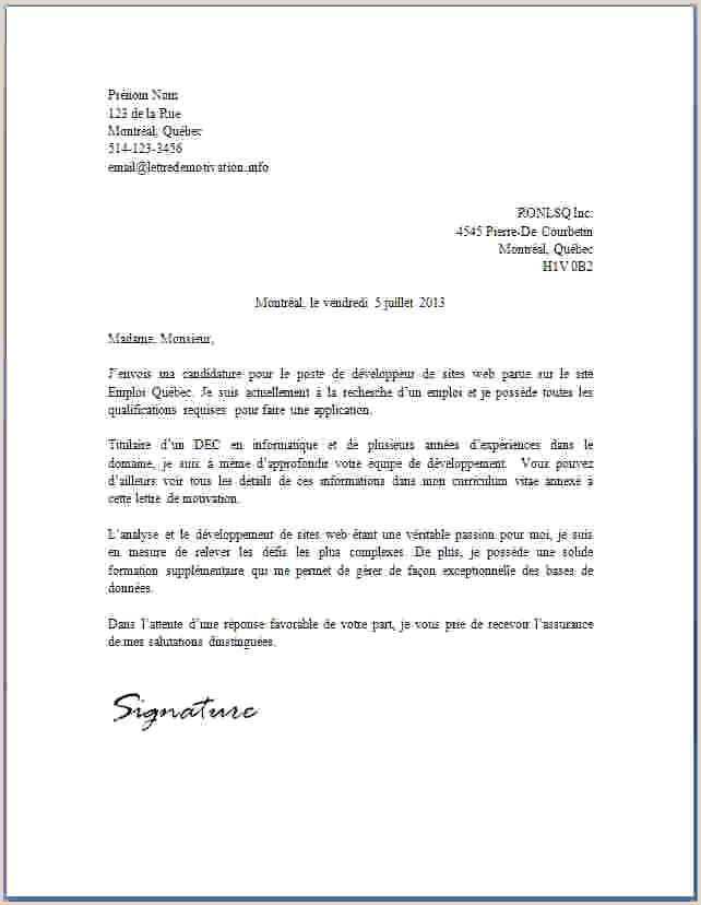 Exemple De Cv Quebecois Gratuit Lettre De Motivation Els Unique Modele Lettre Condoleance