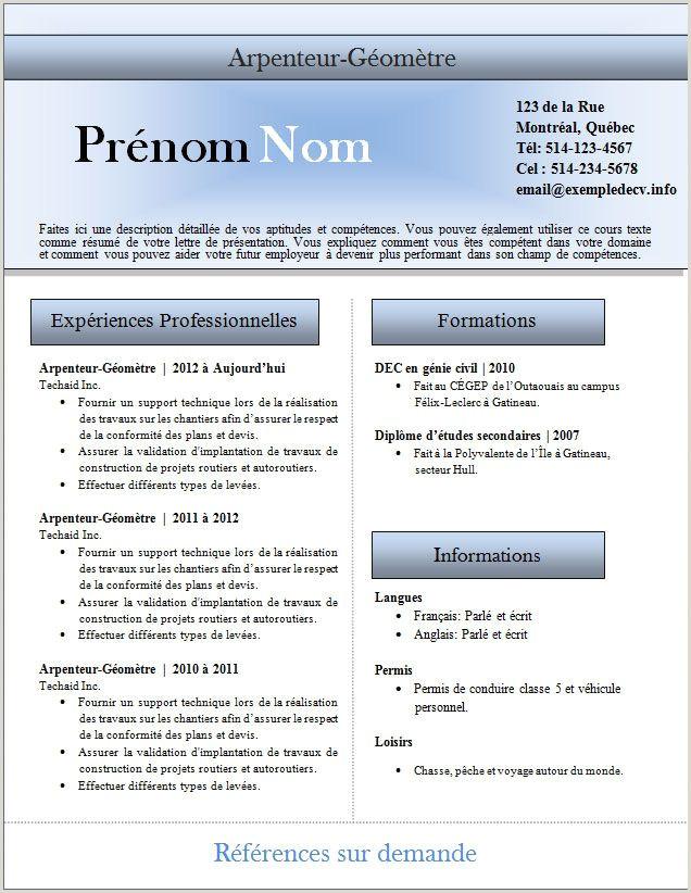 Exemple De Cv Quebecois Research Paper Apa format Template Creative Writing Major