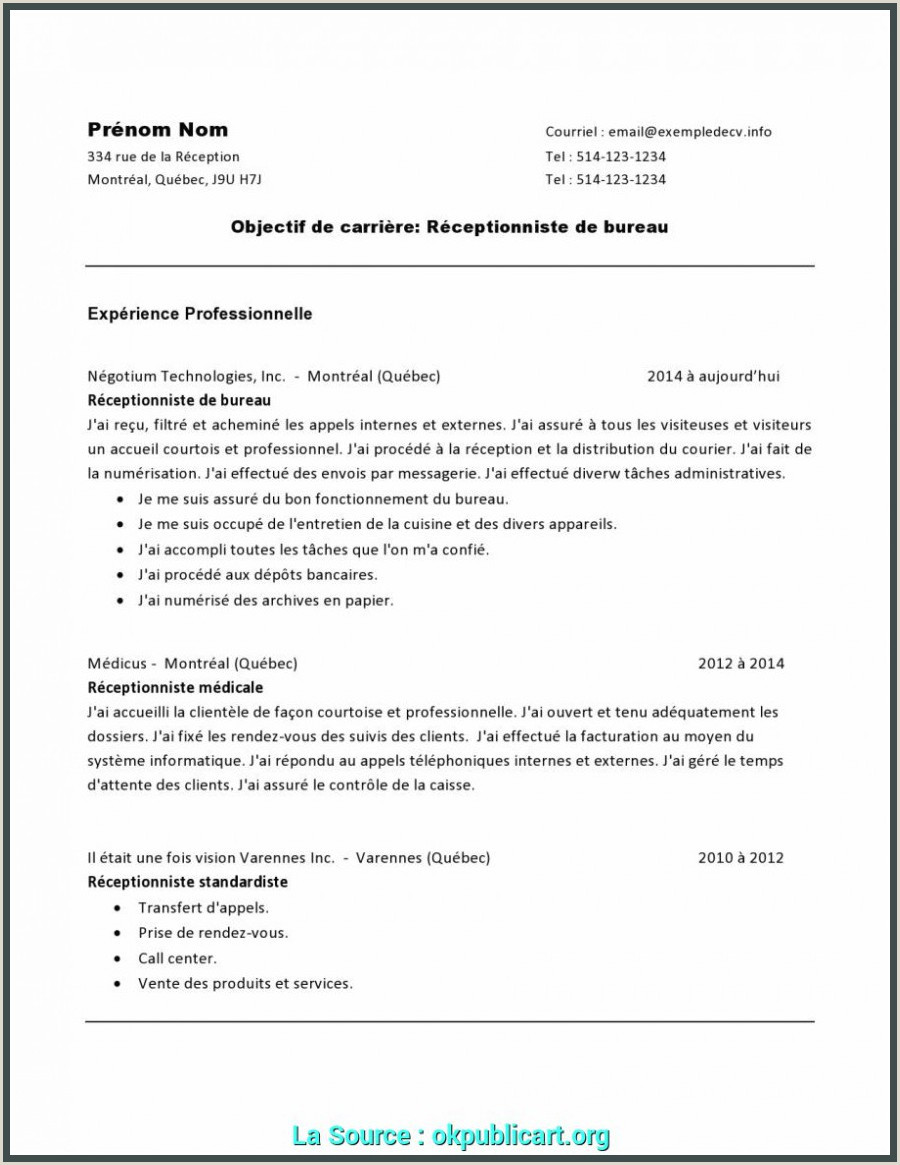 Exemple De Cv Receptionniste Hotel original Lettre De Motivation Receptionniste Hotel Ibis 12