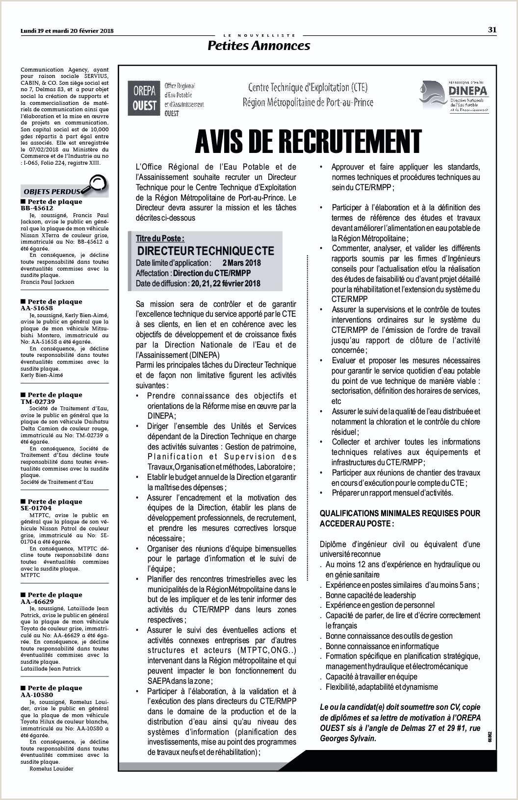 Lettre merciale Prospection Beau Modele Contrat Directeur