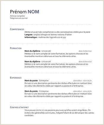 Exemple De Cv Sans Diplome Le Luxe Modele De Cv Femme