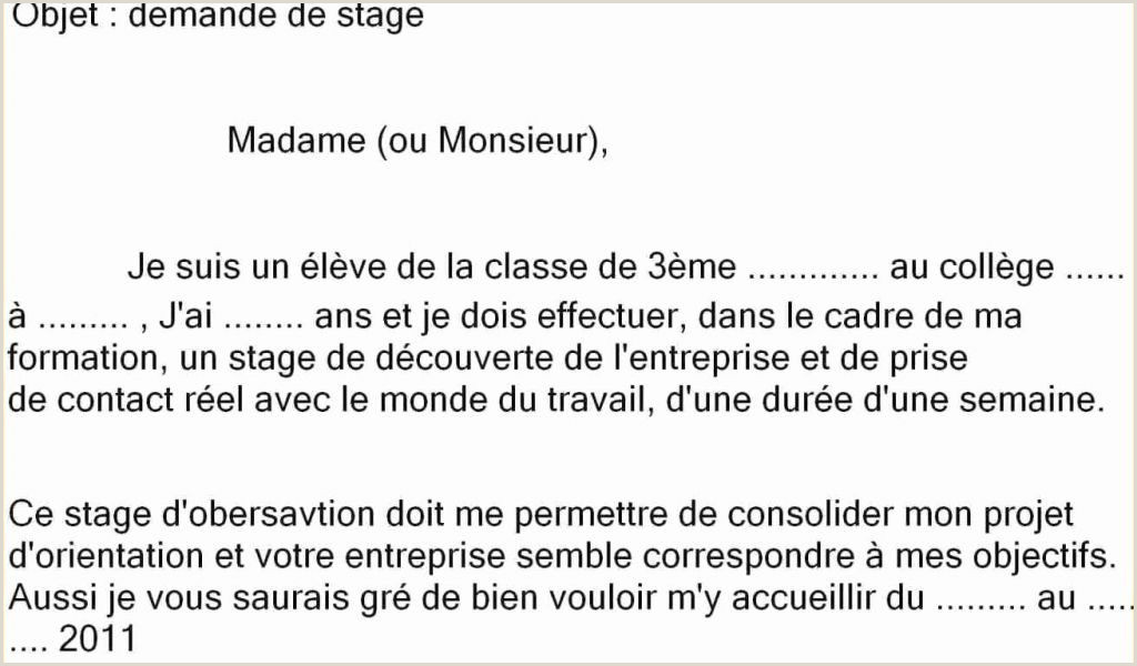 Exemple De Cv Stage Exemple Cv 3eme Unique Cv Pour Stage 3eme Lettre De