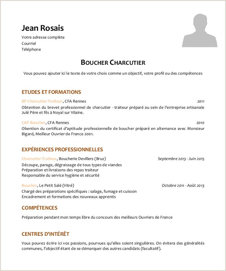Exemple De Cv Suisse 2017 Meilleur Mod¨le Cv Boucher Charcutier Modele De Lettre