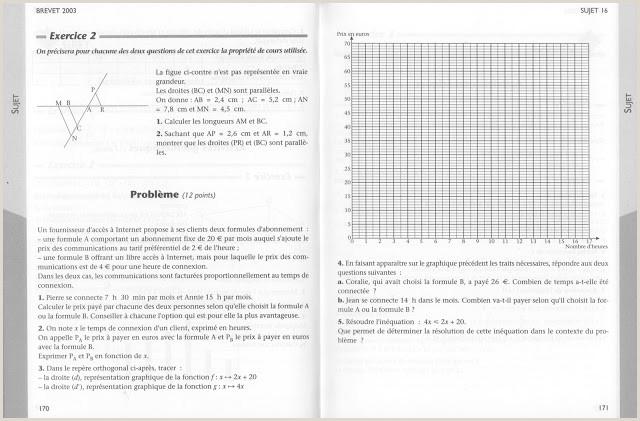 école références Brevet Mathématiques Annales exercices