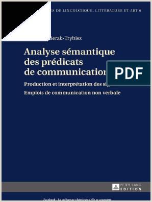 Izabela Pozierak Trybisz Analyse Sémantique Des Prédicats de