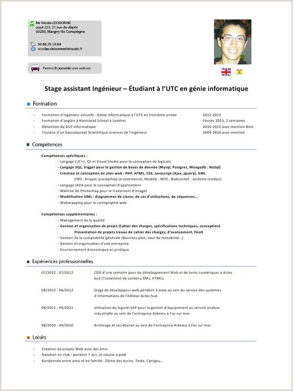 Exemple De Cv Tunisie Pdf 53 Inspirant De Mod¨le Cv Powerpoint Gratuit