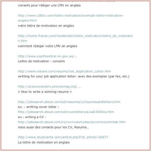 Les Meilleur Exemple De Lettre De Motivation En Anglais Pour