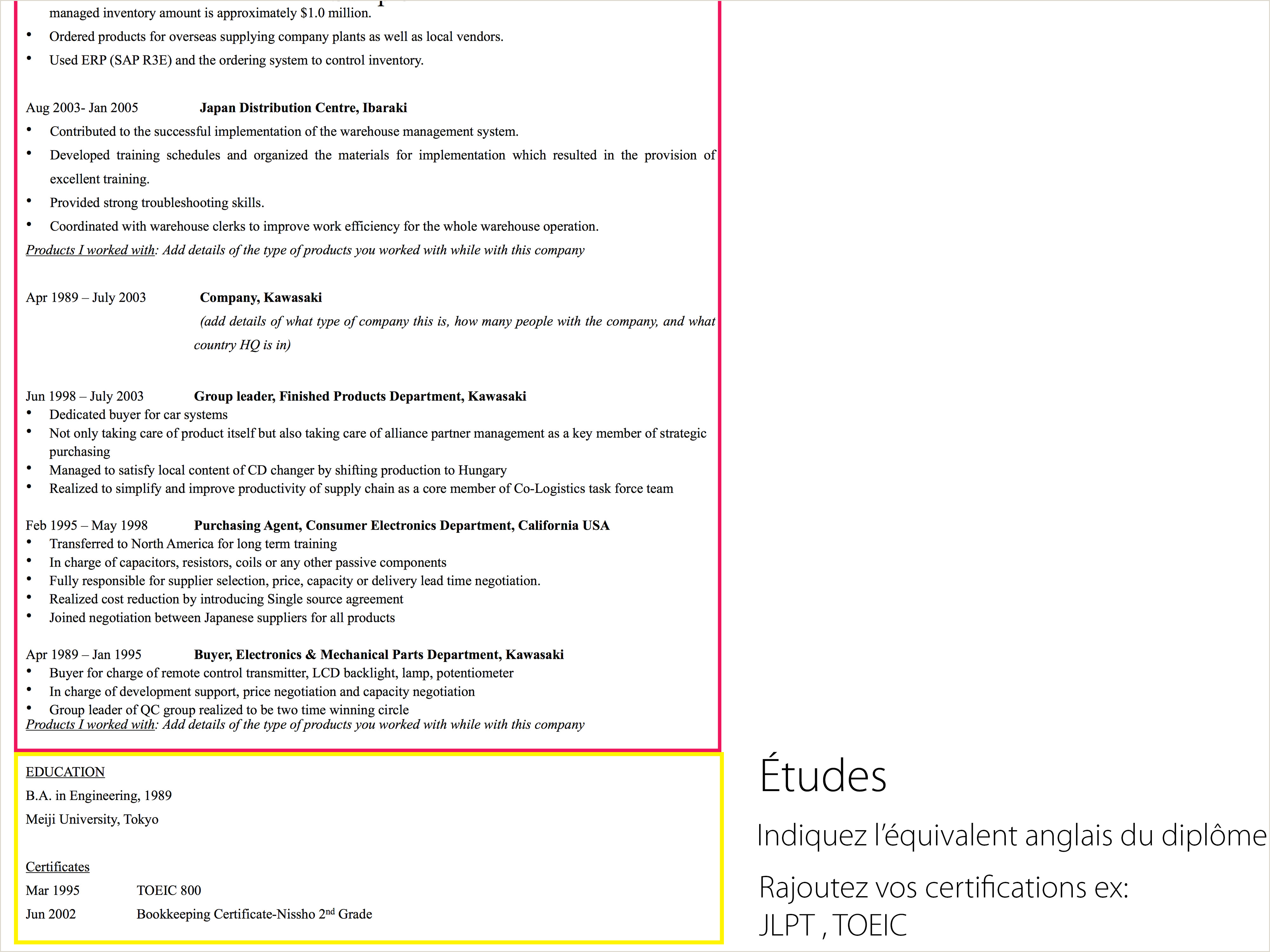 Exemple De Cv-uri Europass Completate Mod¨le De Cv Anglais