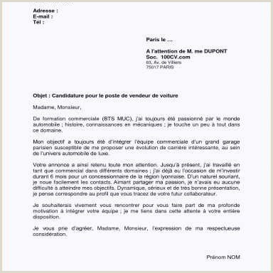 Lettre De Motivation Bmw Parfait Lettre De Motivation
