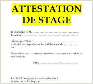 Exemple de mod¨le d attestation de stage en word doc