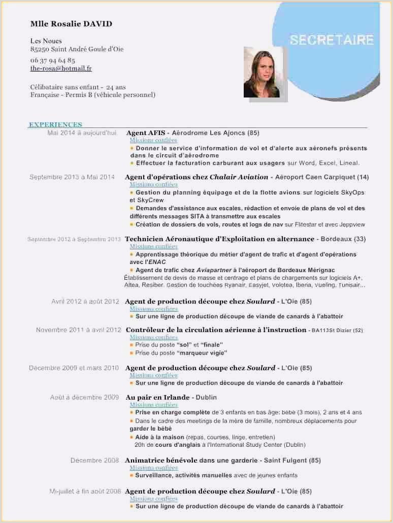 Exemple De Cv Word 2018 63 Cv Lettre Type