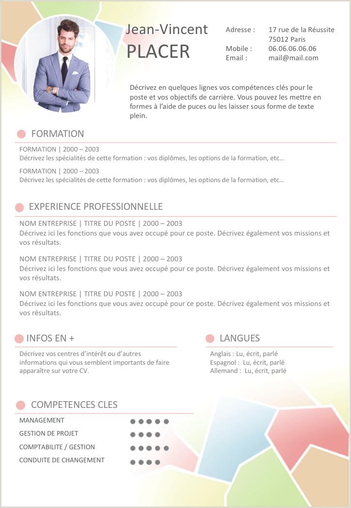 Exemple De Cv Word Algerie Tr¨s Bien Extreme Exemple De Cv Dynamique Et Coloré Gratuit