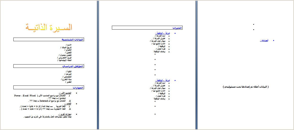 Modele Cv Arabe Word