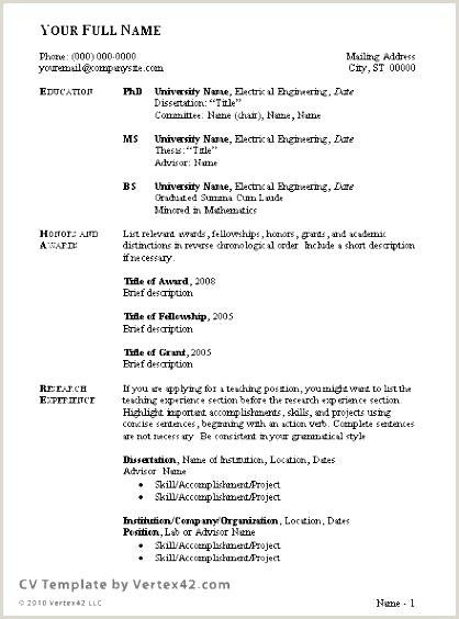 Exemple De Cv Word Simple Modele Cv Word 2007 Libre Cv Model Best Resume format In