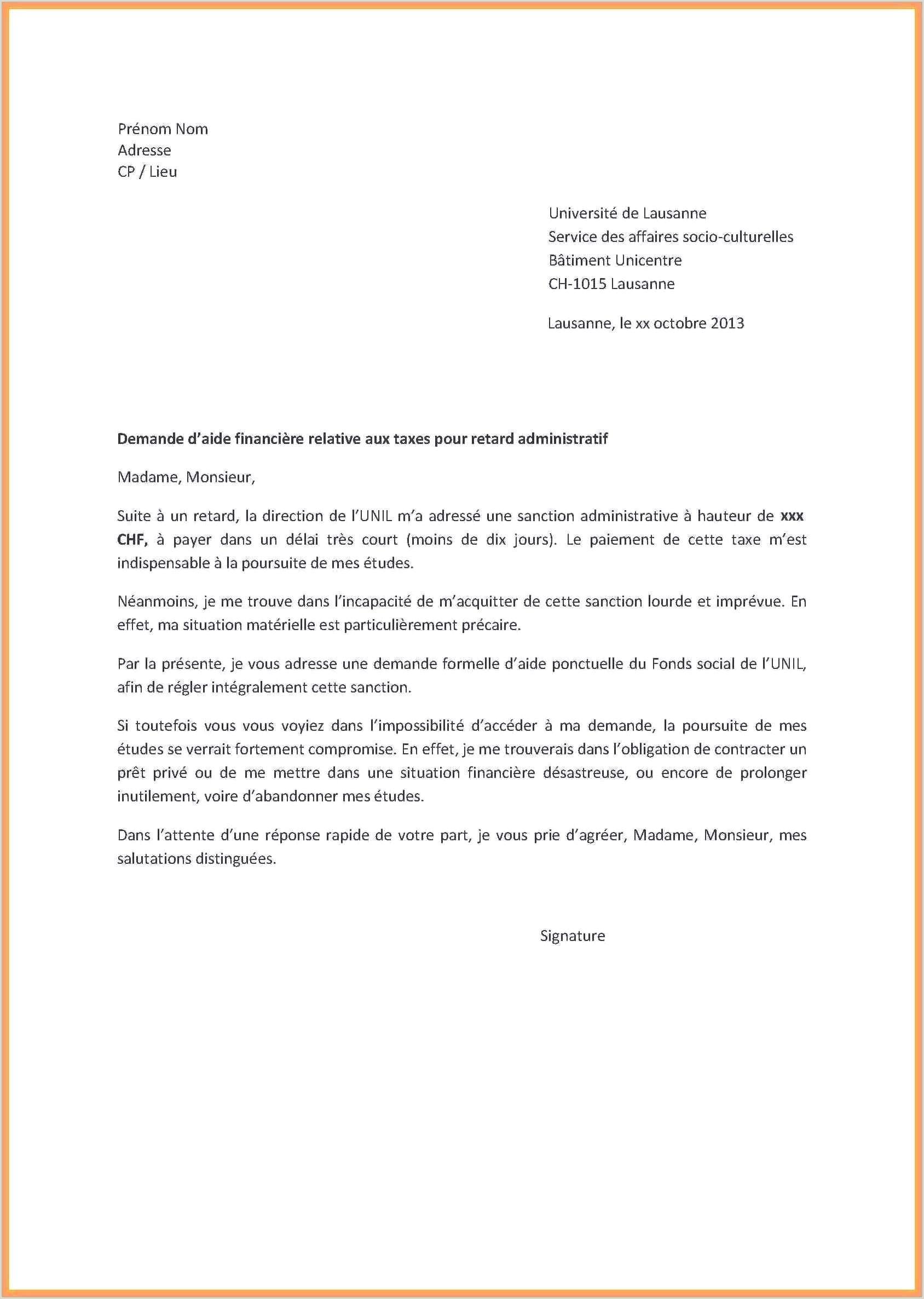 Exemple De Lettre De Motivation Pour Inscription En Master