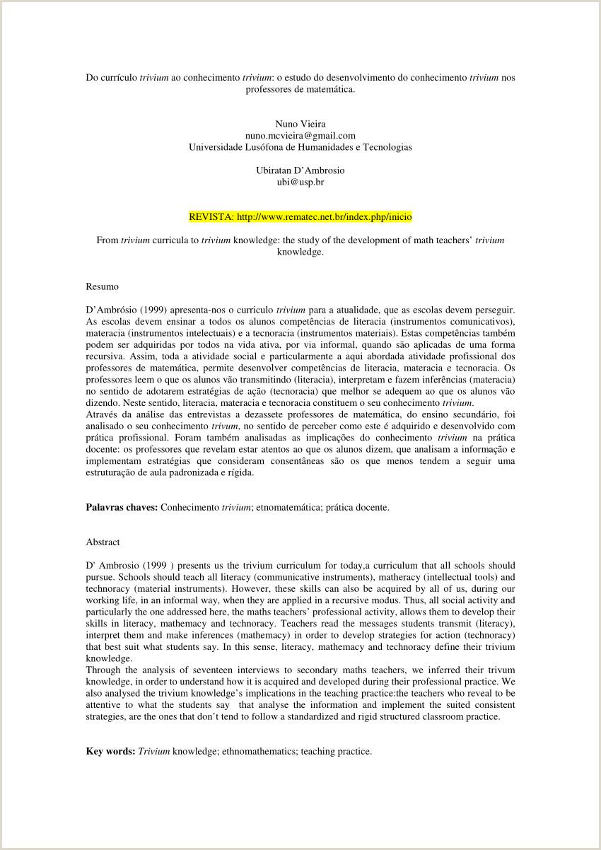PDF Do currculo trivium ao conhecimento trivium o estudo