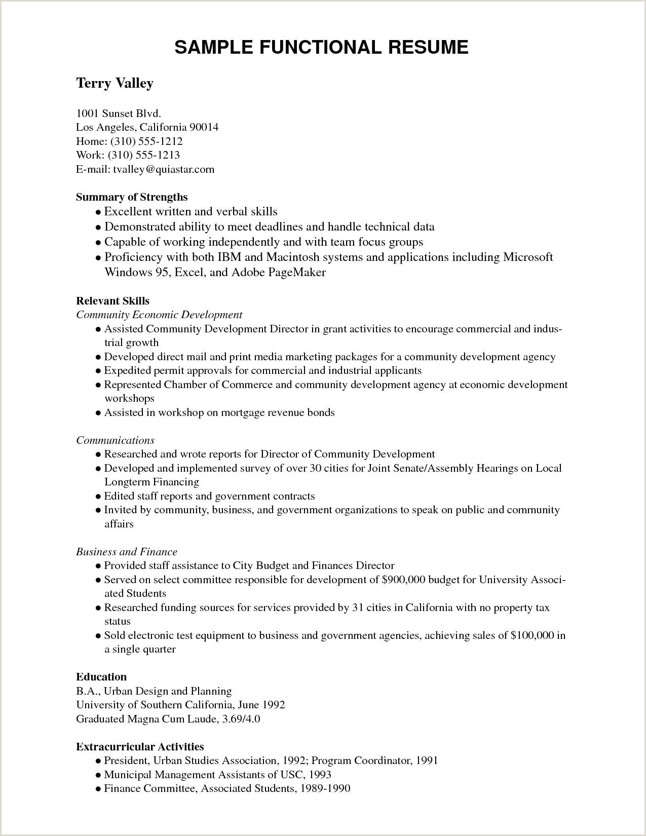 Extracurricular Activities In Resume Sample 70 New Resume Examples for Extracurricular