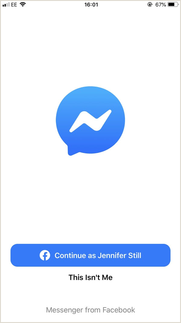 How to log out of Messenger on an iPhone Business