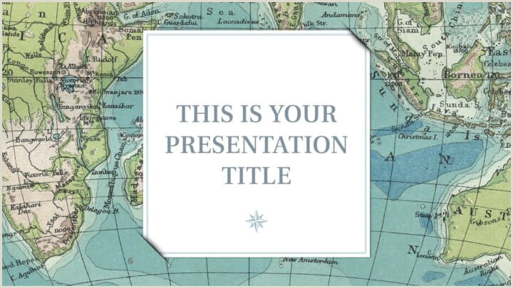 Free template for Powerpoint or Google Slides with vintage