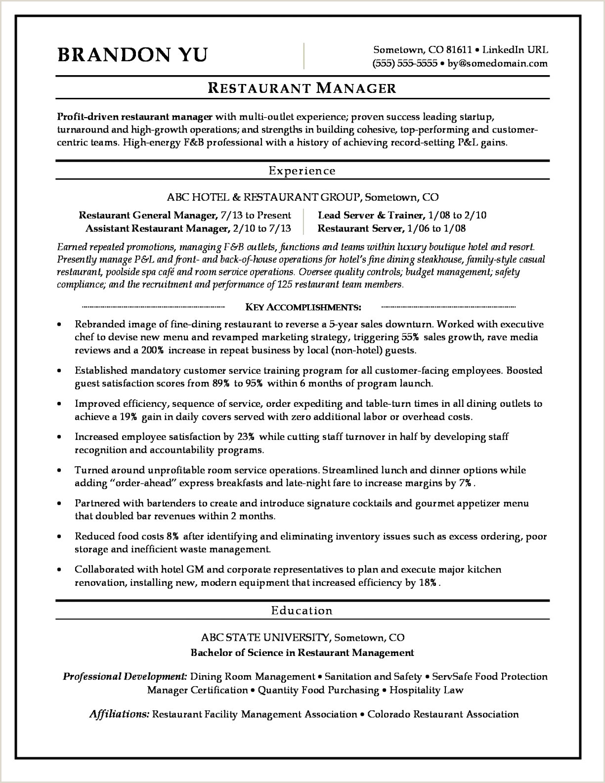 Facilities Management Resume Hotel Manager Resume Sample Best Manager Resume New