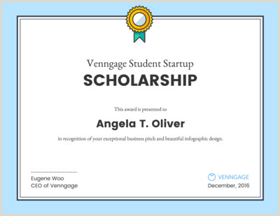 Venngage the line Certificate Maker