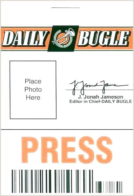 Fake Press Pass Template Press Id Card Template