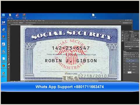 Videos matching Social Security Card Template PSD Download