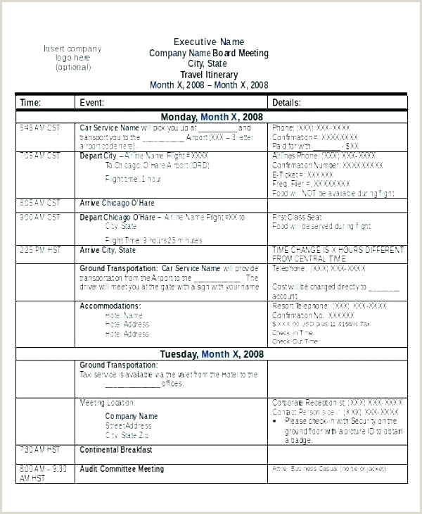 Group Travel Itinerary Template Excel Tour Pdf