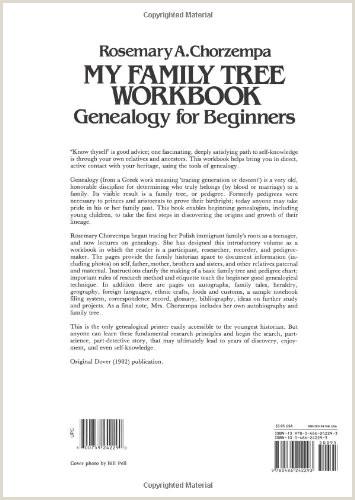 Family History Essay Examples My Family Tree Workbook Dover Children S Activity Books