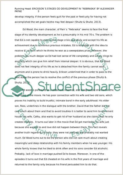 Nebraska Essay Example