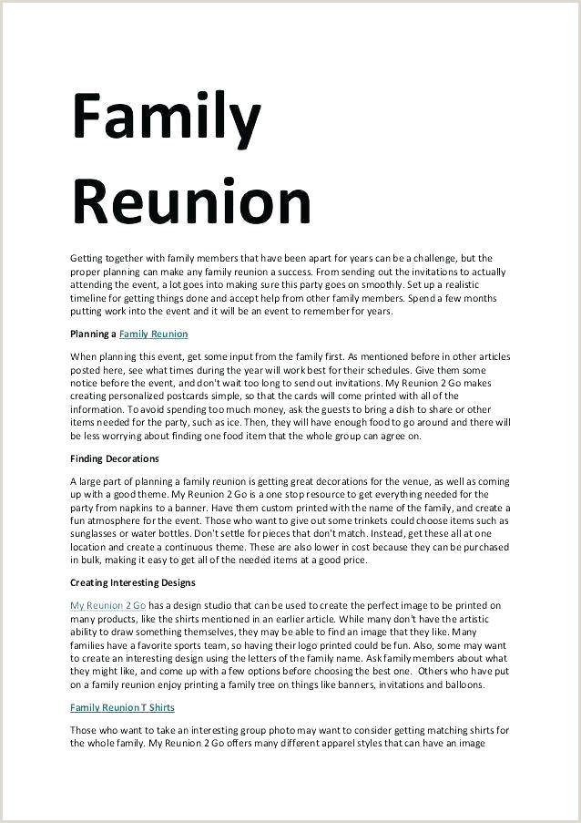 Family Reunion Program Template Awesome Class Reunion