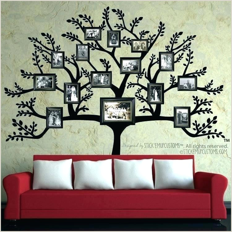 Family Tree Wall Template Hanging Art House Design Decal