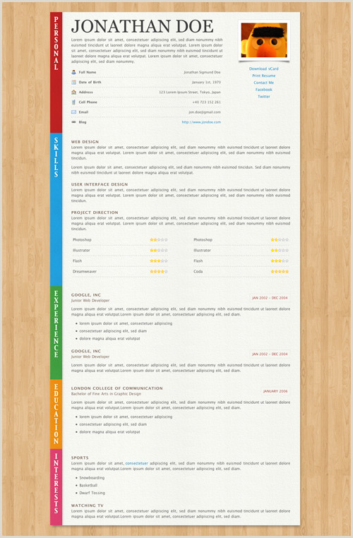 Fancy Way to Say Cashier 40 Great HTML Cv Resume Templates Template